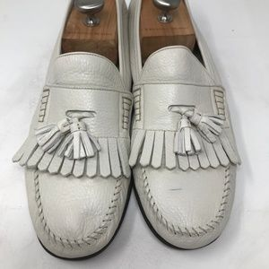 Bally Shoes - Bally Ivory  Leather Tassel Loafers Mens Size 13 M